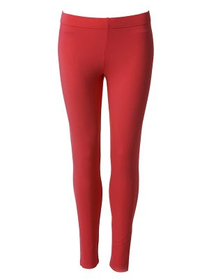 Leggings long red
