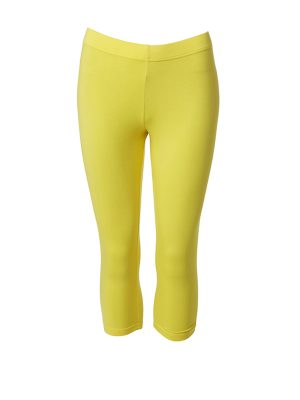 Leggings short yellow
