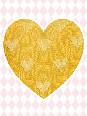 Laura Yellow Heart (Delivered in March)