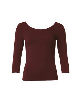 Trinnis T Shirt Dark Cherry